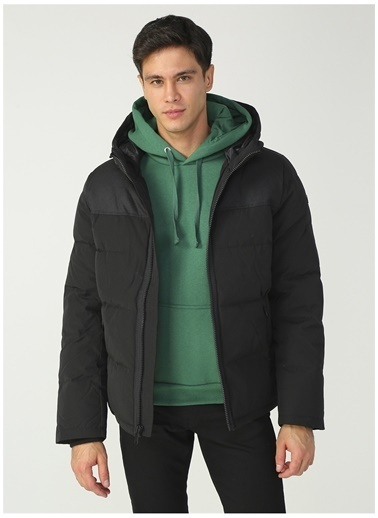 Dockers Dockers Mix Media Hoody Mont Siyah
